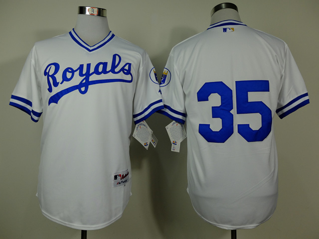 MLB Kansas City Royals 35 Eric Hosmer White 1974 Turn The Clock Jersey