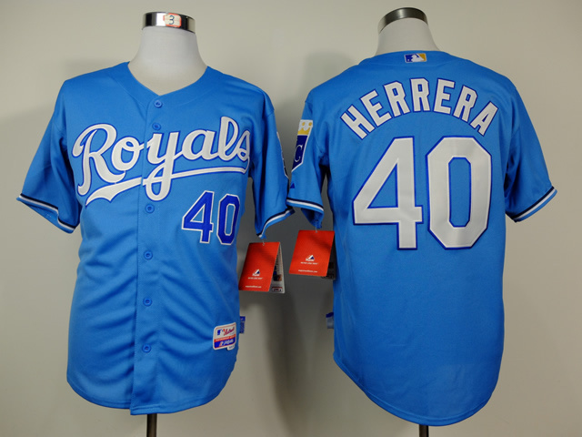 MLB Kansas City Royals 40 Herrera Blue 2014 Jerseys