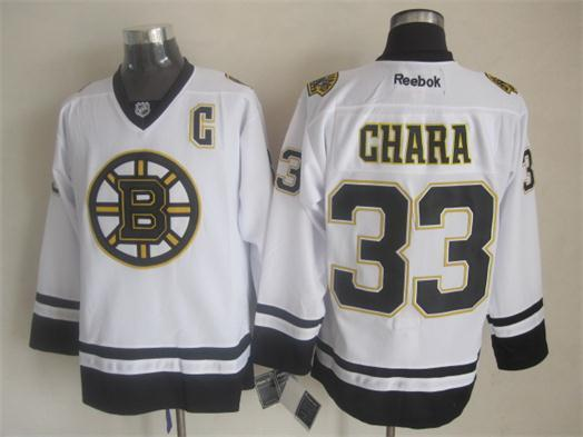 NHL Boston Bruins 33 Zdeno Chara Fashion Replica White 2014 Jerseys