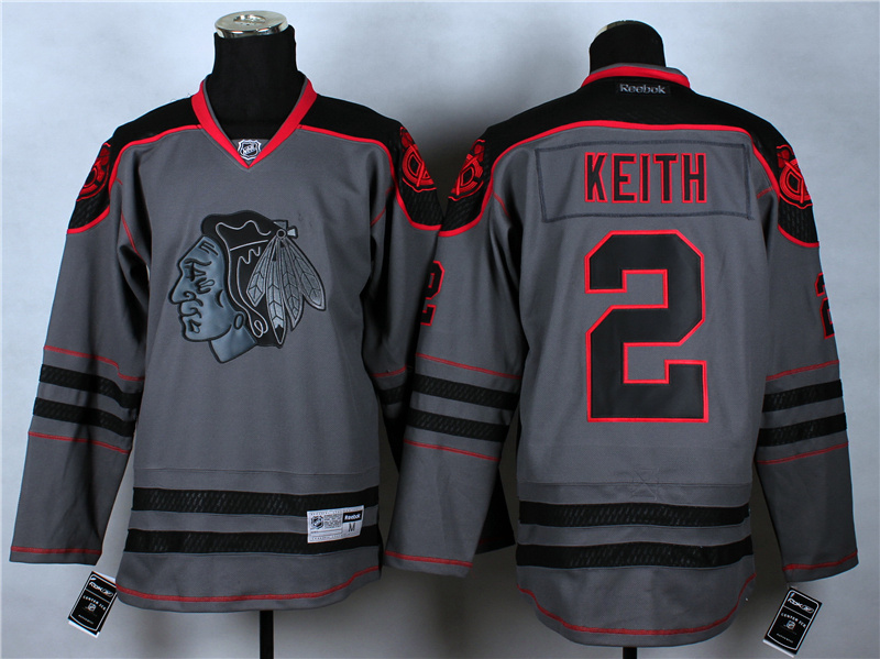NHL Chicago Blackhawks 2 Duncan Keith Charcoal Fashion 2014 Jersey