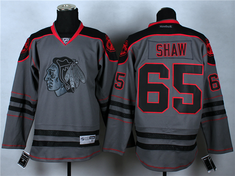 NHL Chicago Blackhawks 65 Andrew Shaw Charcoal Fashion 2014 Jersey