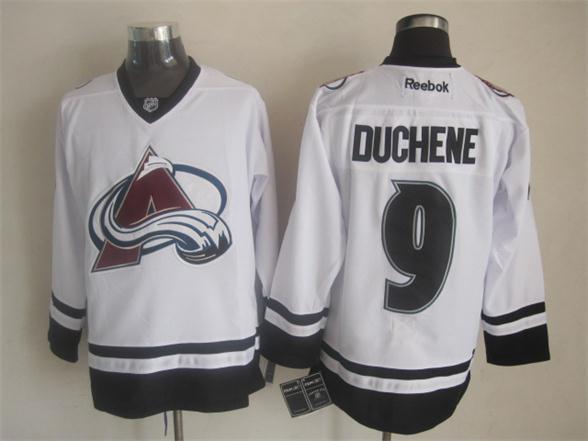 NHL Colorado Avalanche 9 Matt Duchene Fashion White 2014 Jerseys