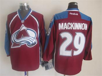 NHL Colorado Avalanche 29 Mackinnon red 2014 Jerseys