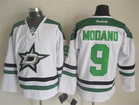 NHL Dallas Stars 9 Mike Modano White 2014 Jerseys