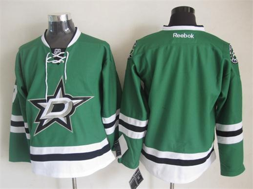NHL Dallas Stars Blank Green 2014 Jerseys