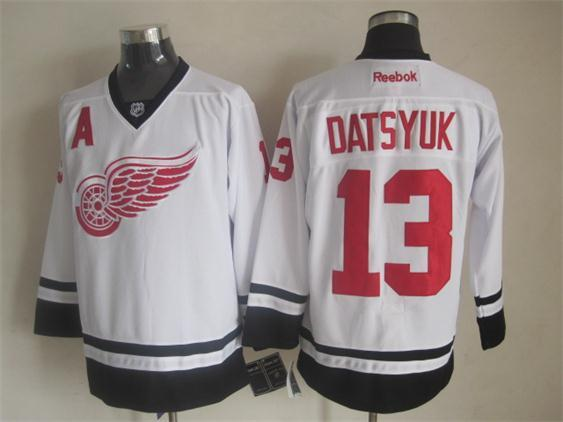 NHL Detroit Red Wings 13 Datsyuk white 2014 Jerseys