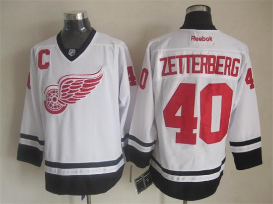 NHL Detroit Red Wings 40 Zetterberg white 2014 Jerseys