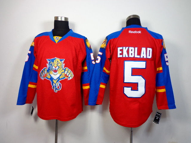 NHL Florida Panthers 5 Ekblad red 2014 Jerseys
