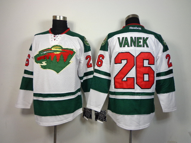 NHL Minnesota Wild 26 Thomas Vanek white 2014 Jerseys