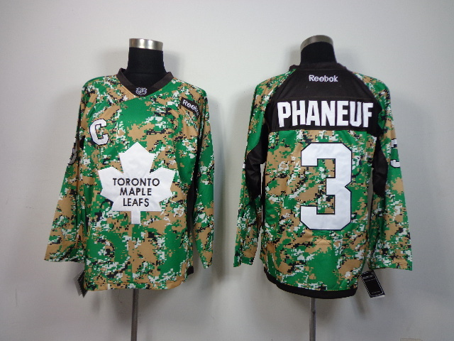 NHL Toronto Maple Leafs 3 Dion Phaneuf Camo 2014 Jerseys