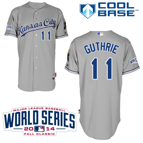 MLB Kansas City Royals 11 Guthrie Grey 2014 Jerseys