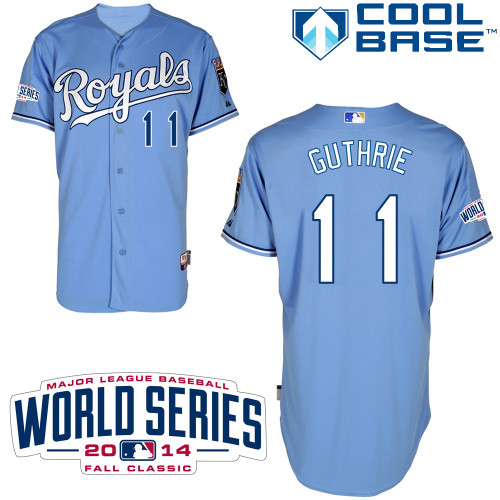 MLB Kansas City Royals 11 Guthrie Light Blue 2014 Jerseys