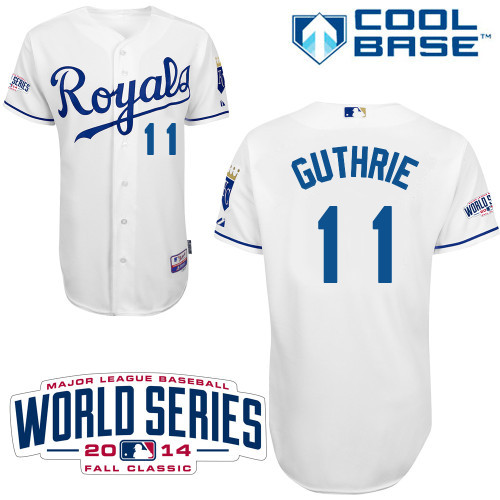 MLB Kansas City Royals 11 Guthrie White 2014 Jerseys