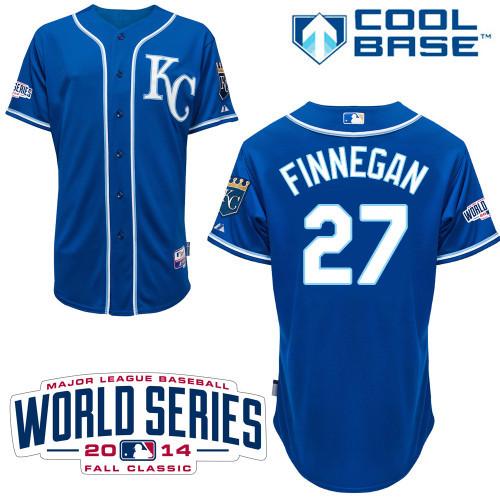 MLB Kansas City Royals 27 Finnegan Blue 2014 Jerseys