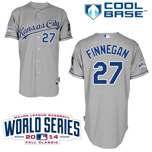 MLB Kansas City Royals 27 Finnegan Grey 2014 Jerseys