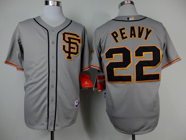 MLB San Francisco Giants 22 Peavy Grey 2014 Jerseys