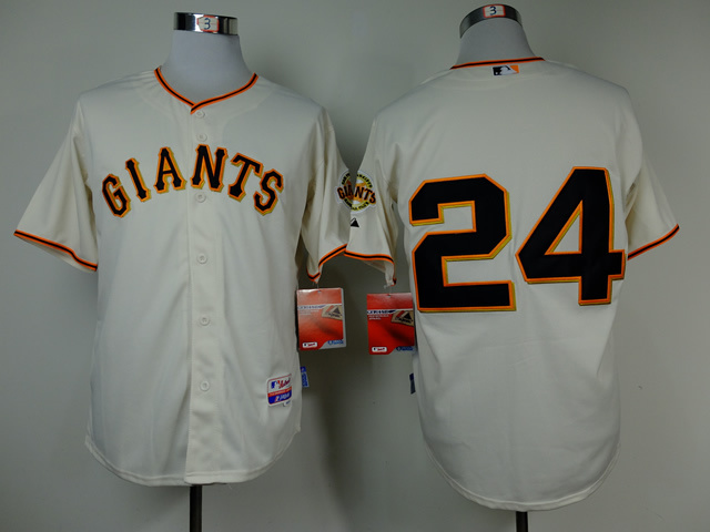 MLB San Francisco Giants 24 Willie Mays Gream Throwback Jerseys