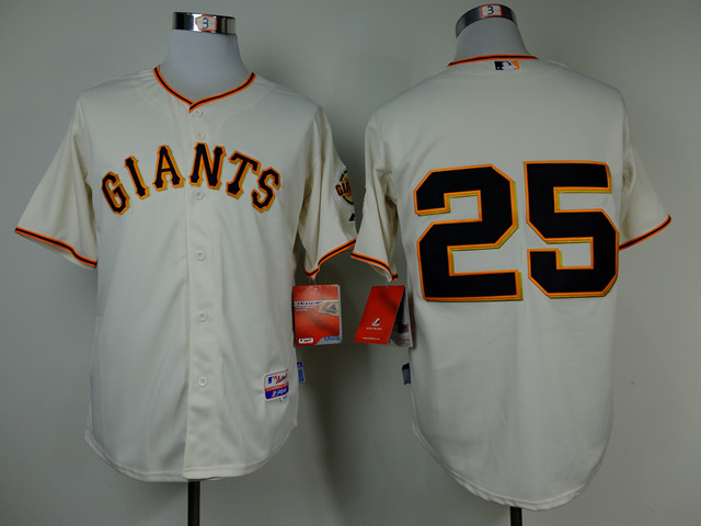 MLB San Francisco Giants 25 Barry Bonds Gream Throwback Jerseys
