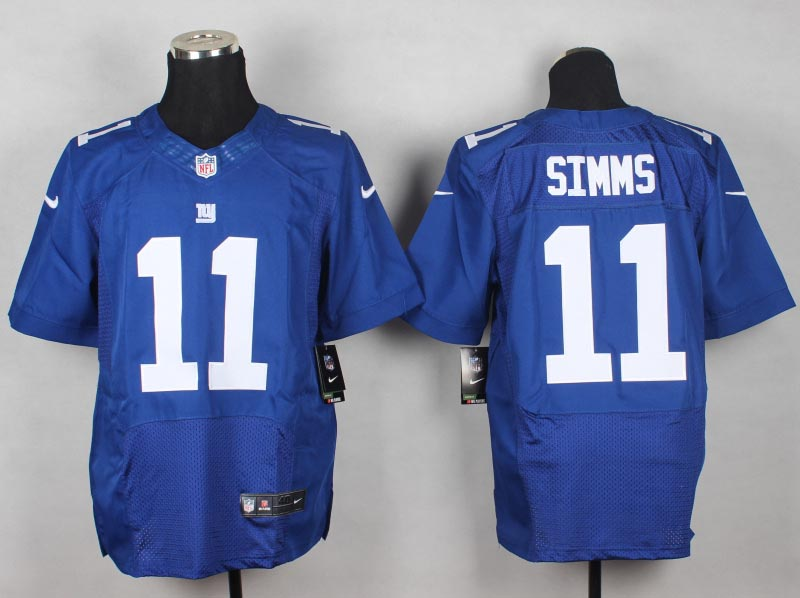 New York Giants 11 Phil Simms Blue 2014 New Nike Elite Jerseys