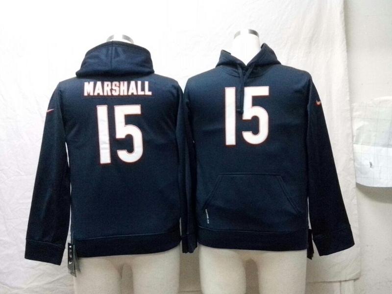 Chicago Bears 15 marshall Nike NFL Kids Pullover Hooded Sweatshirt