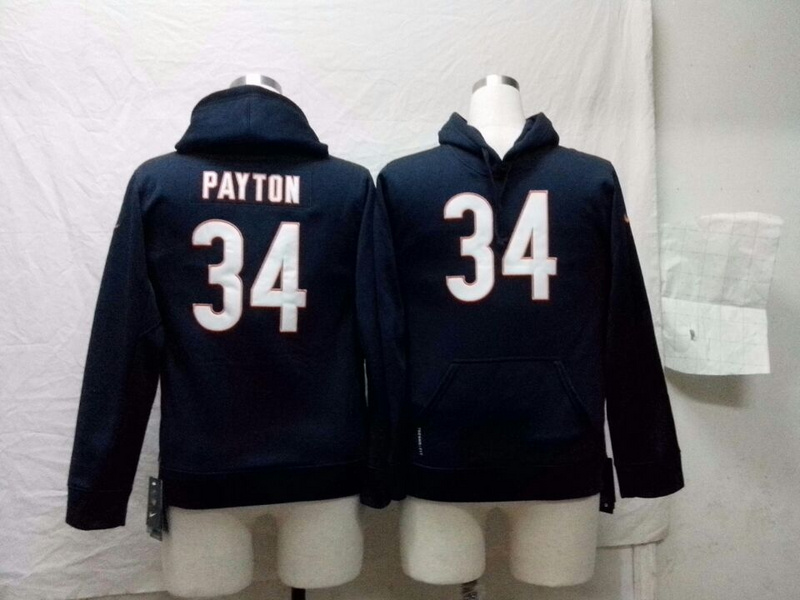 Chicago Bears 34 Walter Payton Nike NFL Kids Pullover Hooded Sweatshirt
