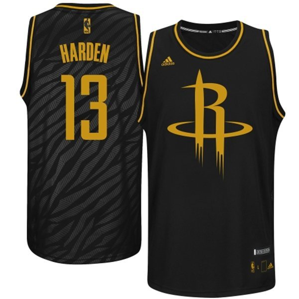 NBA Houston Rockets 13 James Harden Precious metal fashion Edition Jerseys
