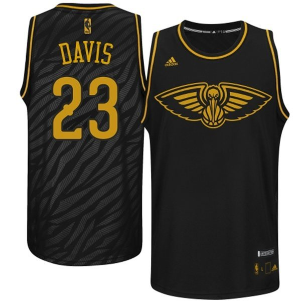 NBA New Orleans Pelicans 23 Davis Precious metal fashion Edition Jerseys