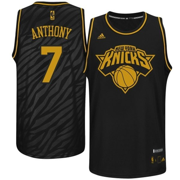 NBA New York Knicks 7 Carmelo Anthony Precious metal fashion Edition Jerseys