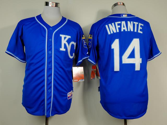 MLB Kansas City Royals 14 Infante Blue 2014 Jerseys