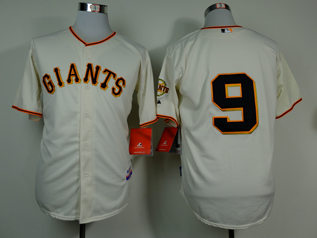 MLB San Francisco Giants 9 Belt Gream 2014 Jerseys