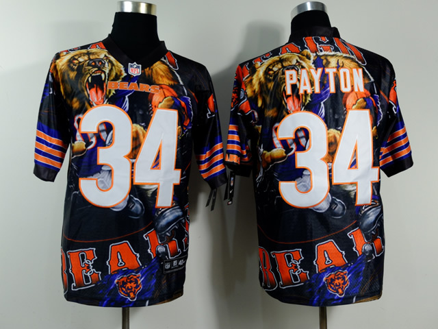 Chicago Bears 34 Payton NFL Nike fanatical version Jersey