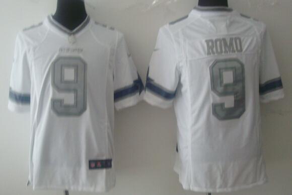 Dallas Cowboys 9 Tony Romo White Silver 2014 Nike Game Jerseys