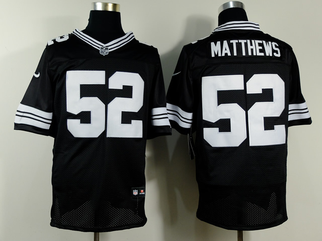 Green Bay Packers 52 Clay Matthews Black 2014 Nike Elite Jerseys