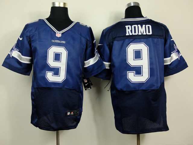 Dallas cowboys 9 Romo Blue 2014 Nike Elite Jerseys