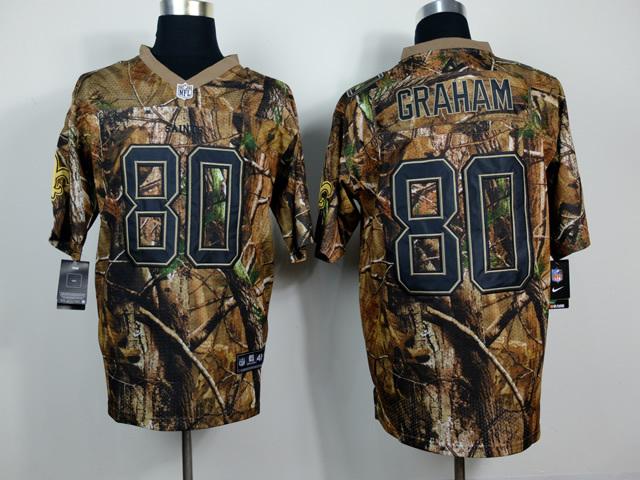 New Orleans Saints 80 Jimmy Graham Camo 2014 Nike Elite Jerseys
