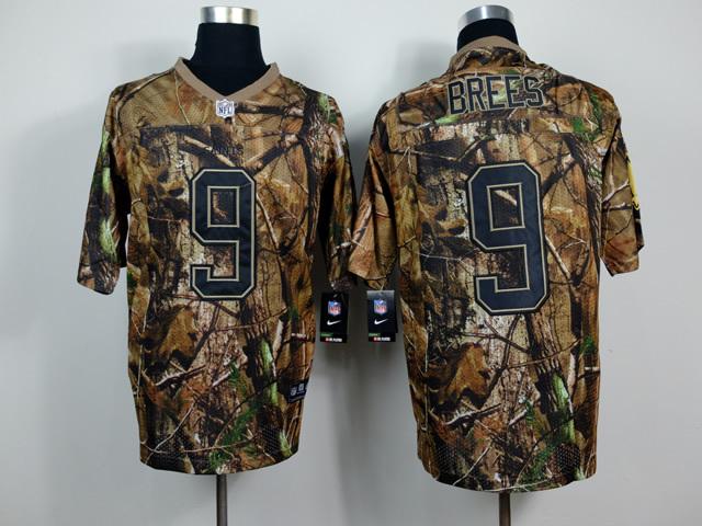 Orleans Saints 9 Drew Brees Camo 2014 Nike Elite Jerseys