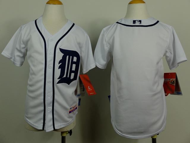 Youth MLB Detroit Tigers Blank white 2014 Jerseys