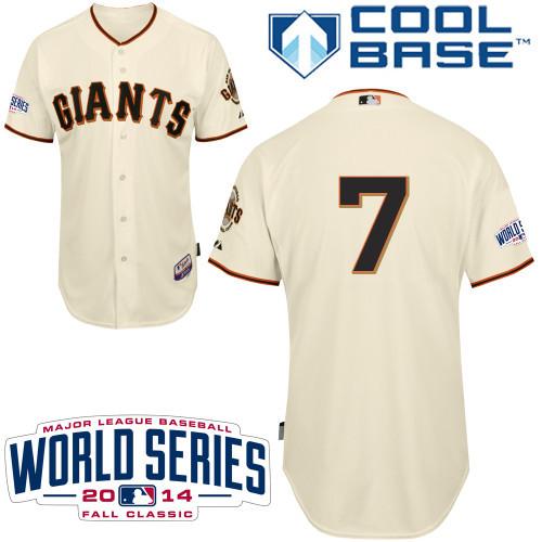 MLB San Francisco Giants 7 Blanco Gream 2014 Jerseys