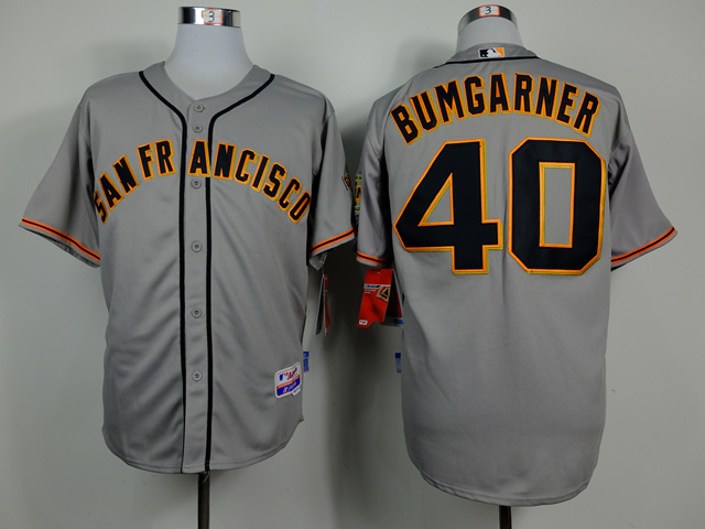 MLB San Francisco Giants 40 Madison Bumgarner Grey 2014 Jerseys