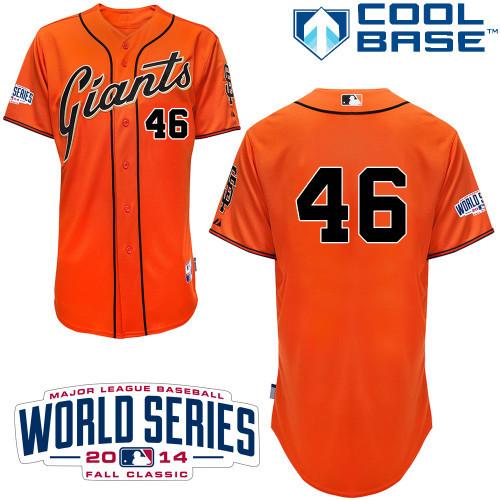 MLB San Francisco Giants 46 Casilla Orange 2014 Jerseys