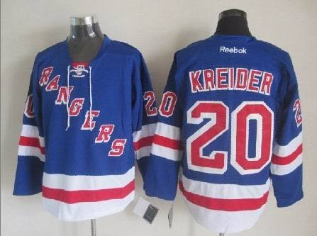 NHL New York Rangers 20 Chris Kreider Blue 2014 Jerseys