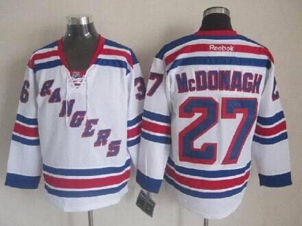 NHL New York Rangers 27 Ryan McDonagh white 2014 Jerseys