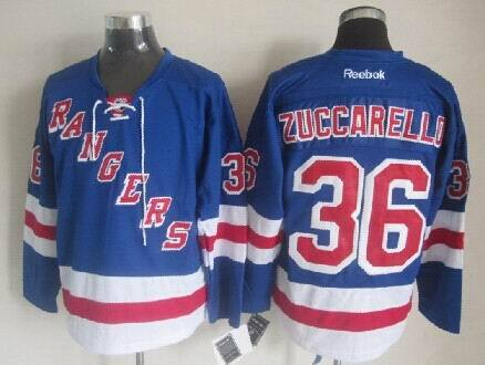 NHL New York Rangers 36 Zuccarello Blue 2014 Jerseys