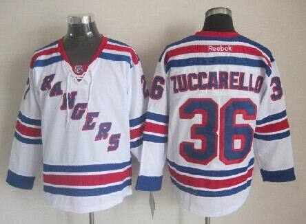 NHL New York Rangers 36 Zuccarello White 2014 Jerseys