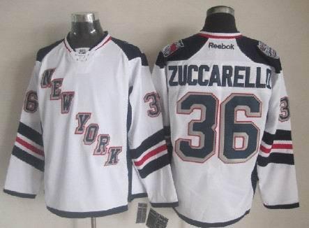 NHL New York Rangers 36 Zuccarello White 2014 Stadium Series Premier Jersey