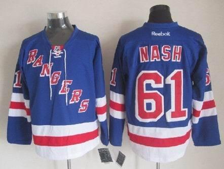 NHL New York Rangers 61 Rick Nash blue 2014 Jerseys