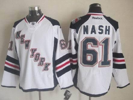 NHL New York Rangers 61 Rick Nash White 2014 Stadium Series Premier Jersey