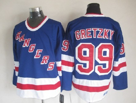 NHL New York Rangers 99 Wayne Gretzky Blue 2014 Jerseys