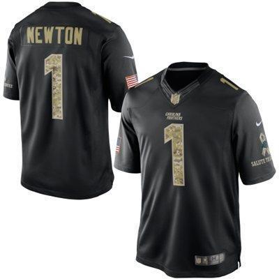 Carolina Panthers 1 Cam Newton Black 2014 Nike Game Jerseys