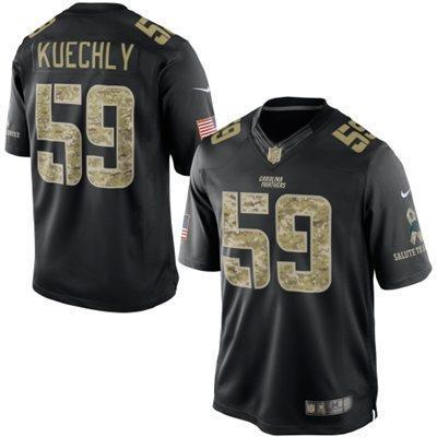 Carolina Panthers 59 Kuechly Black 2014 Nike Game Jerseys